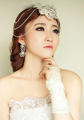 婚纱新娘造型(中式新娘,复古